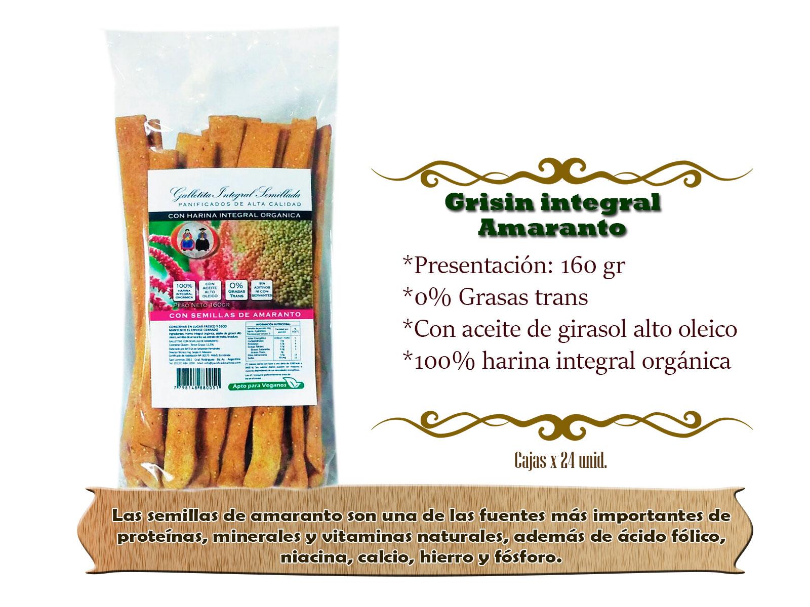 Grisin Integral de Amaranto