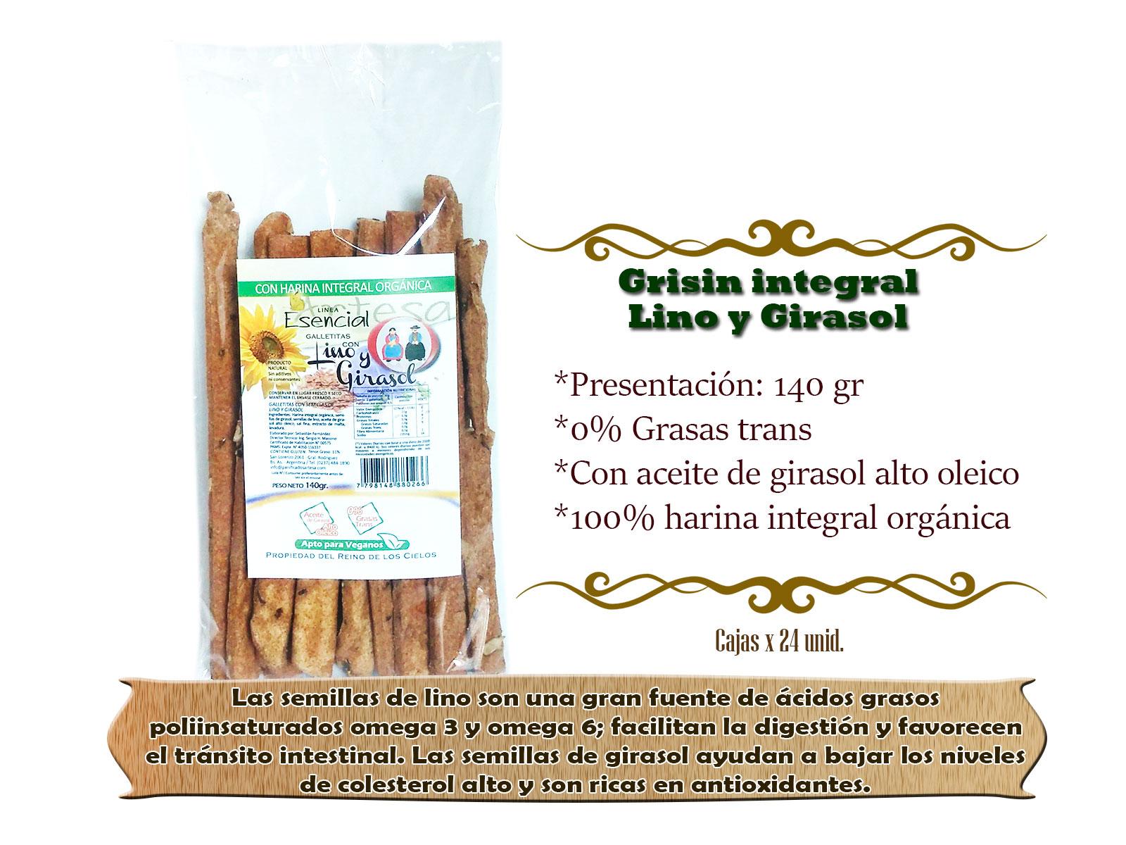 Grisin integral Lino y Girasol