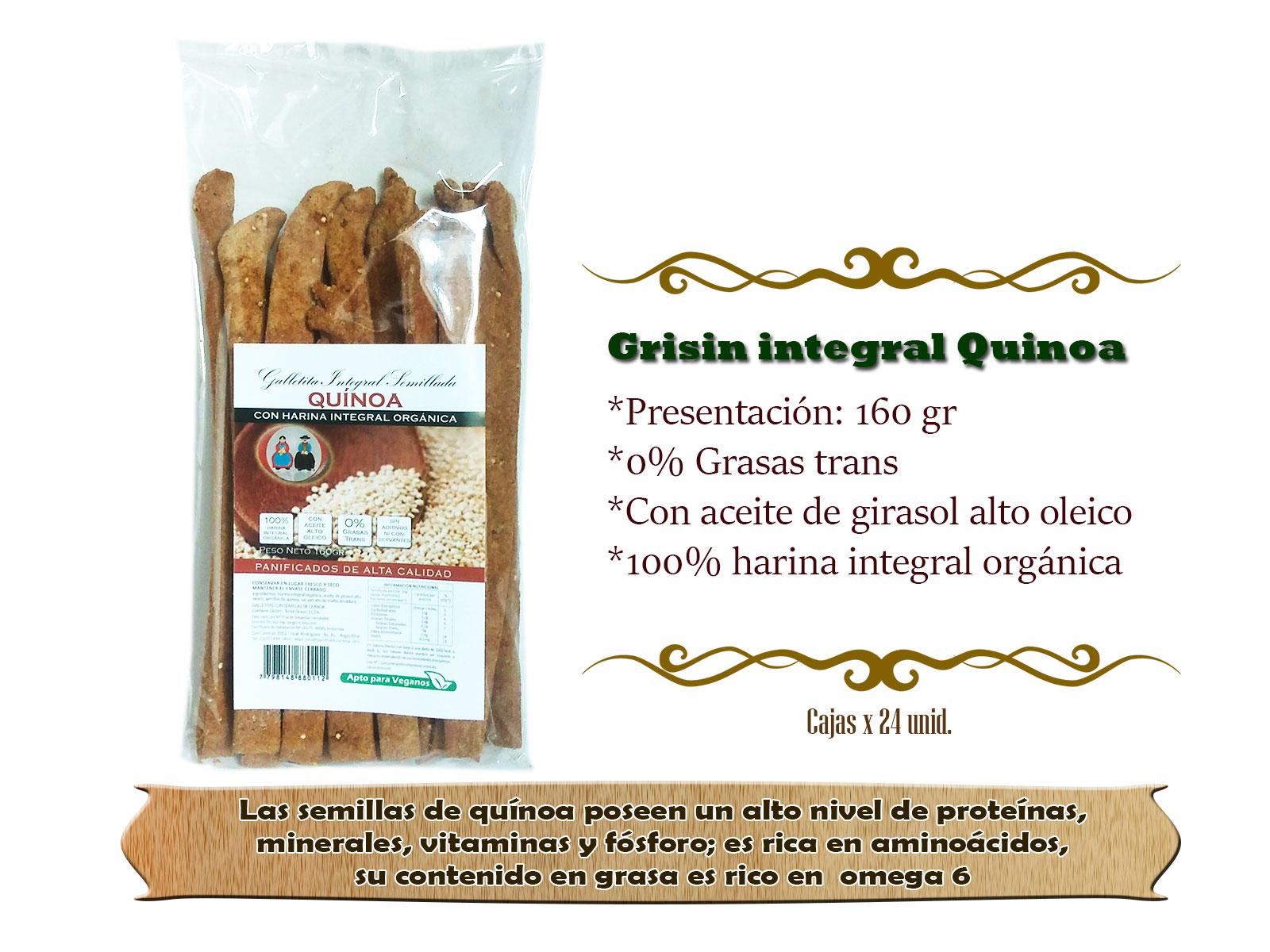 Grisin integral Quinoa