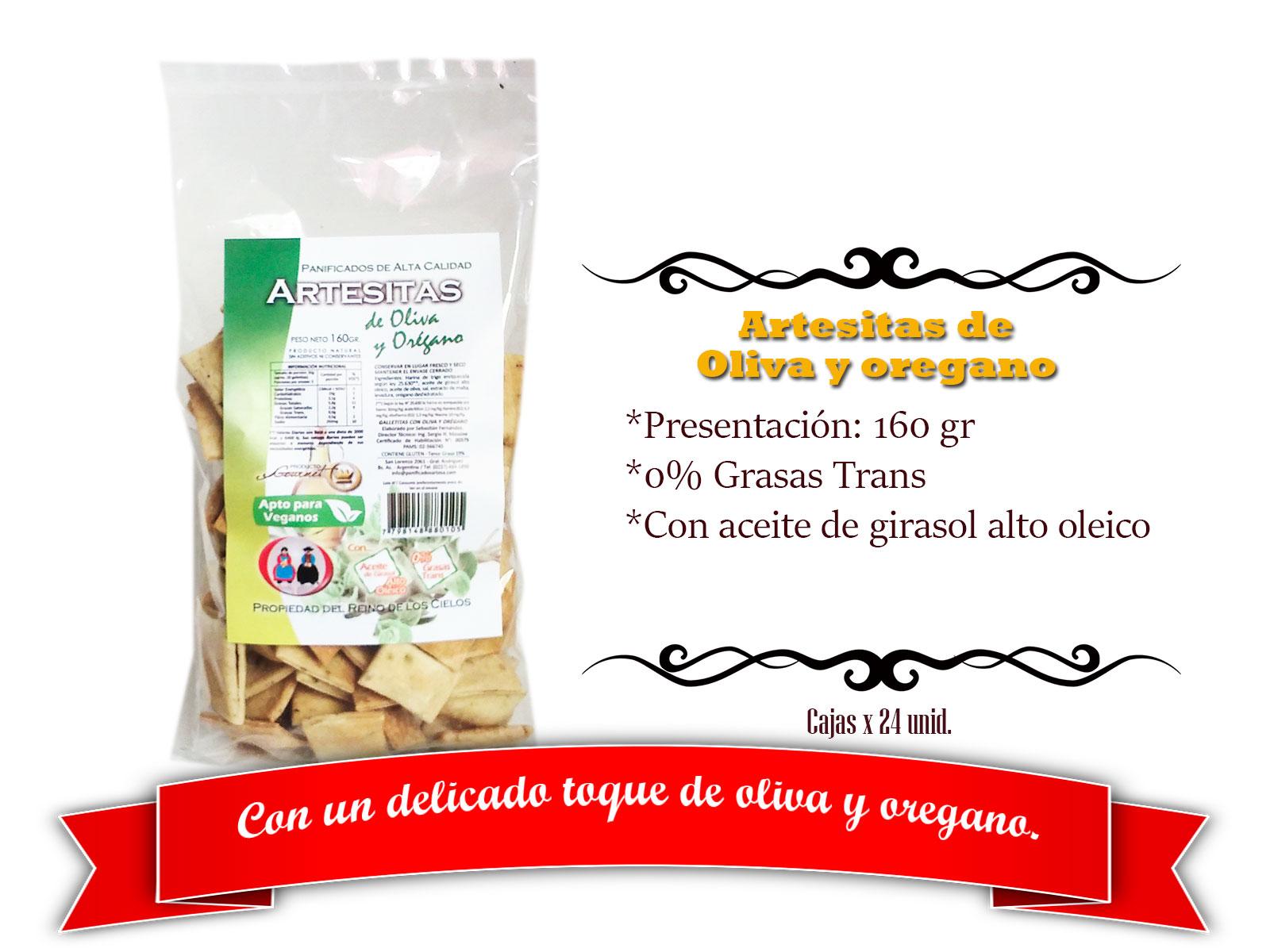 Artesitas de Oliva y Oregano